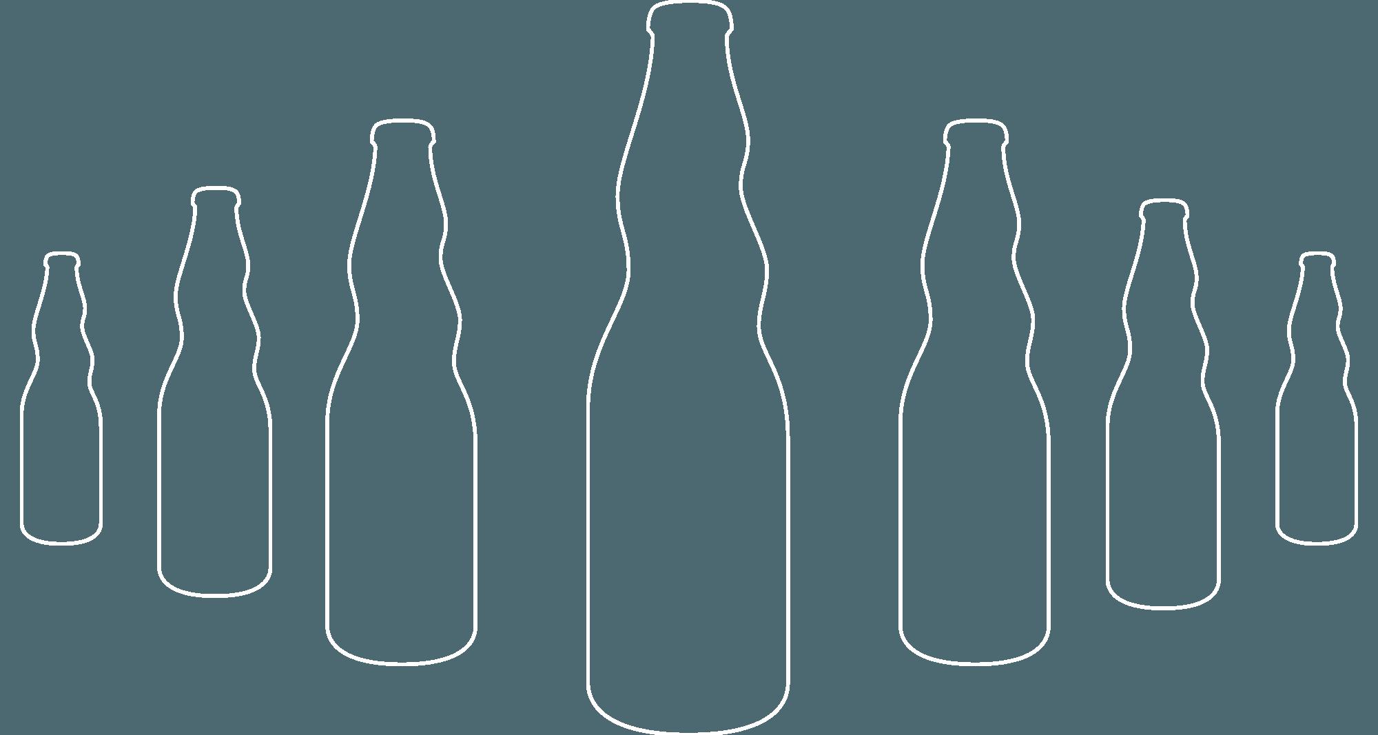 flaschen silhouette